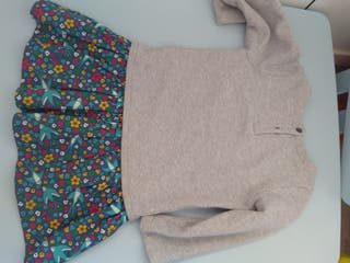 vestido invierno frugi talla 3-4 años