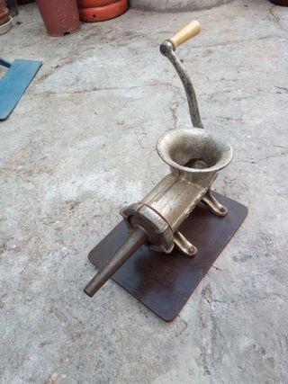 maquina chorizos antigua