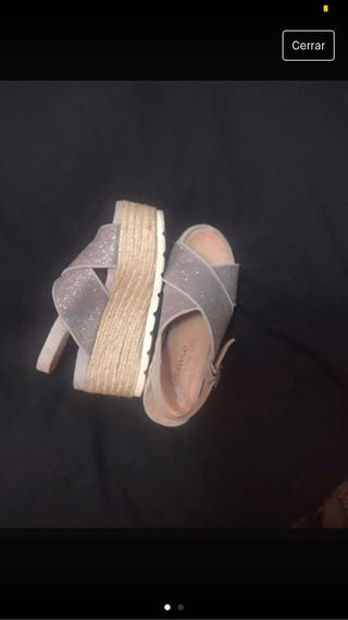 Sandalias de plataforma Gaimo plateadas, 36