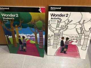 Libro escolar inglés Wonder 2