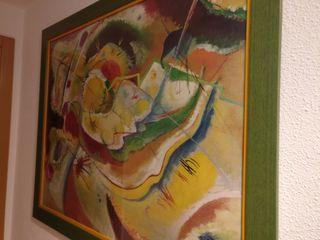 cuadro Lámina de Kandinsky enmarcada