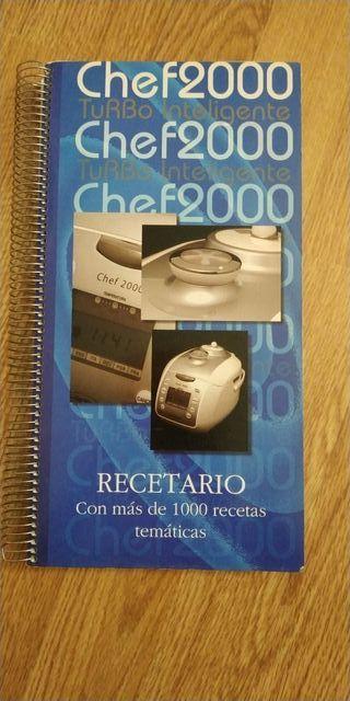 libro recetas / recetario chef 2000 TI