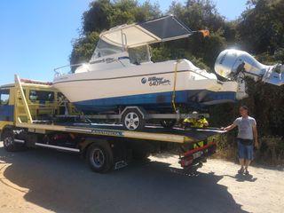 barco wilow 640.honda 90cv