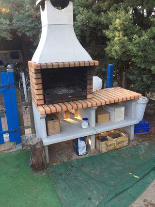 Barbacoa jardín nueva con cajón