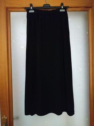 Falda larga negra Philippe