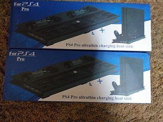 2 accesorio PS4 pro para cargar 2 mandos cada uno