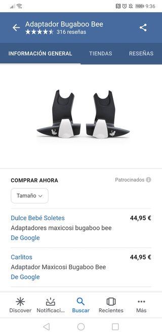 adaptadores maxicosi bugaboo bee