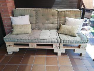 sofá de palets + cojines