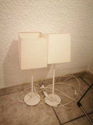 lámparas blancas