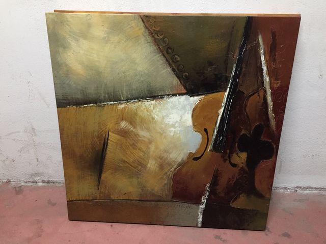 Lote 2 cuadros , lienzo , pintura