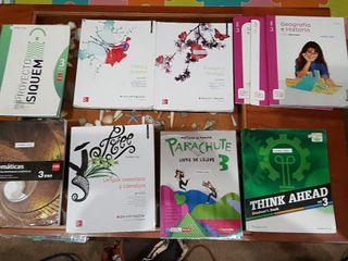 Libros escolares 3° de la ESO Quintiliano.