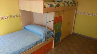 dormitorio infantil juvenil compacto tren