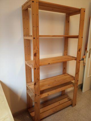 Estanterías IKEA madera