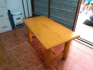 mesa de sofá de madera