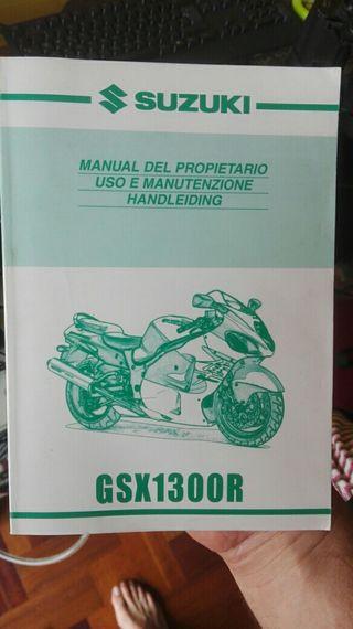 manual de propietario Suzuki Hayabusa