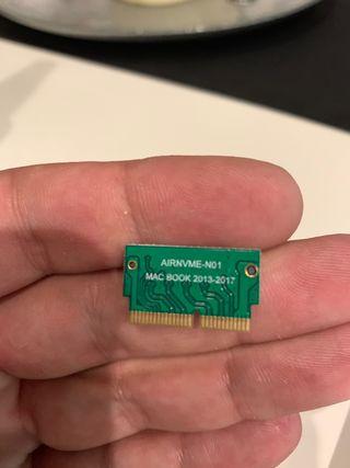 Adaptador disco duro ssd a macbook pro y air