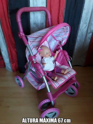 carrito de muñecas y muñeca ZAPF CREATIONS