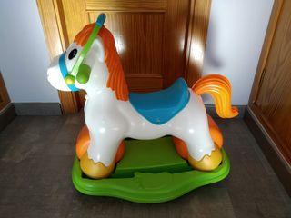 Pony correpasillos y balancín Feber