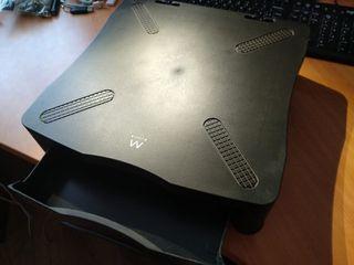 soporte monitor con cajón