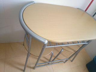 mesa y dos sillas para cocina ikea