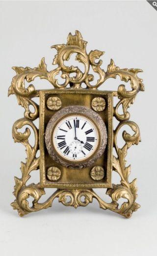 Reloj marco de metal y plata tipo bolsillo d llave
