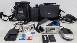 Kit SONY Video camara DCR SR35 camara fotos DSCW80