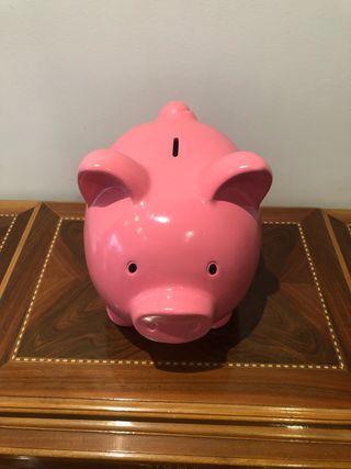 Hucha Cerdo grande rosa decoración