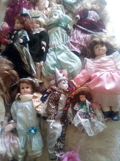 Pack varias muñecas de porcelana