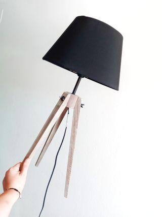 Lámpara de pie rústica