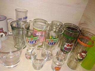Gran colección de vasos