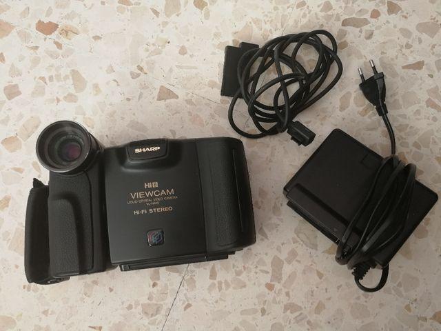 Cámara de vídeo vintage Sharp hi8 cassette