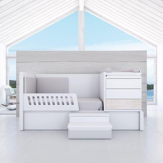 Barrera de cama barandilla infantil Alondra madera