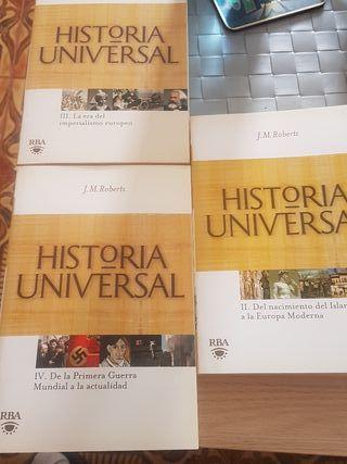 Historia universal vol 2,3 y 4