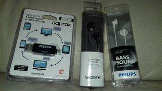 Auriculares Philips y Sony