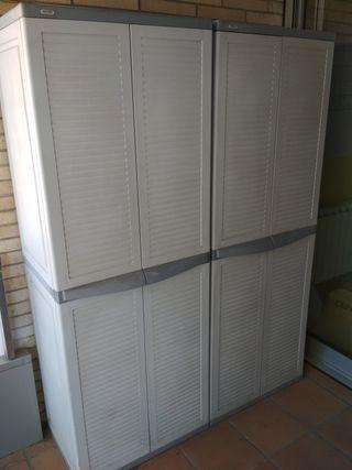 2 armarios de plastico para exterior