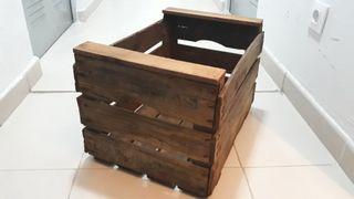 Dos cajas de madera efecto antiguo