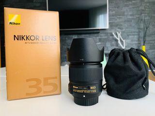 Nikon objetivo 35 mm 1.8G ED FX