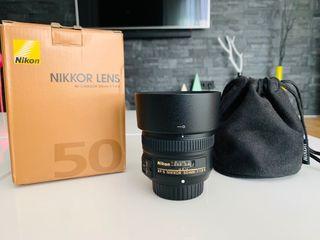 Nikon objetivo 50 mm 1.8G FX