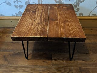 Rustic 'Weathered Oak' Side Table