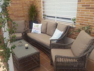 Conjunto jardin sofa mesa sillon