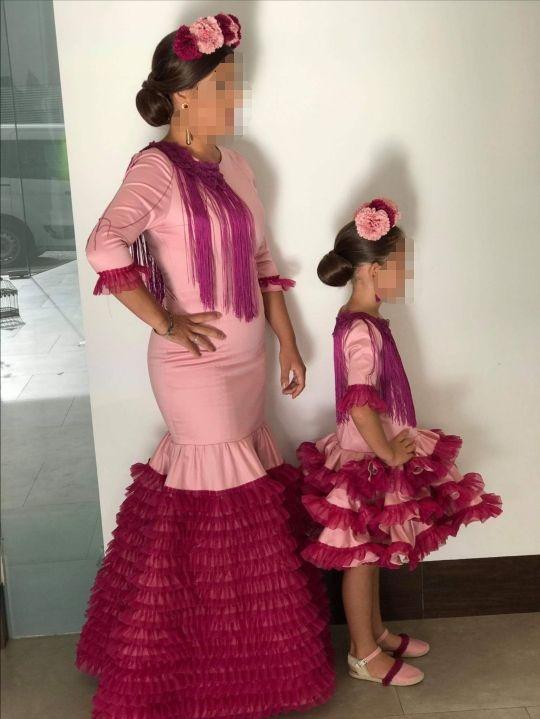 vestido flamenca madre e hija a conjunto