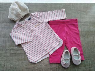 Lote de ropa y calzado bebé T:3-6m.Ropa bebé