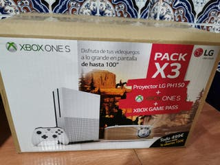 pack xbox one s, game pass, proyector lg ph150