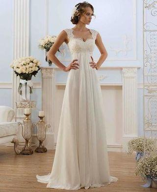 modelado duradero descuento más bajo tienda oficial Vestido para boda civil de segunda mano en WALLAPOP