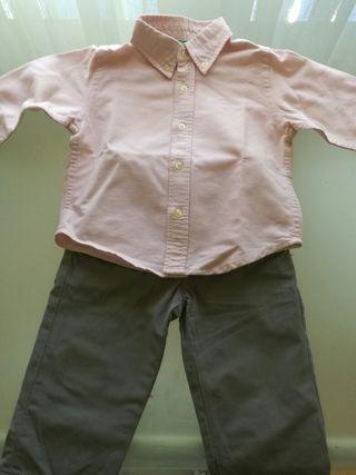 pantalones y camisa 12-18 meses