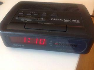 Reloj radio despertador SONY
