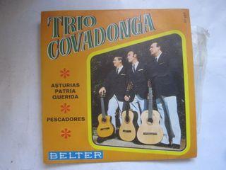 disco single vinilo Trío Covadonga Asturias patria