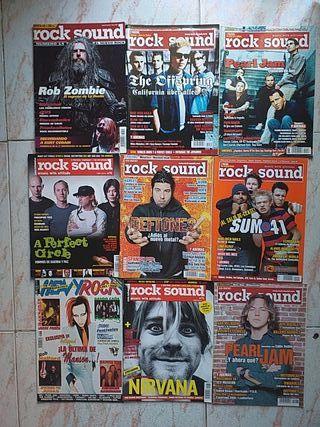 Lote de revistas de rock y metal