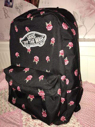 mochilas vans de flores