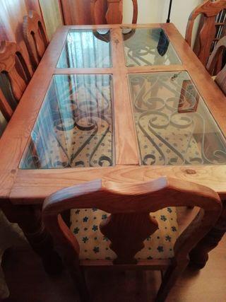 Mesa y sillas Mexicanas